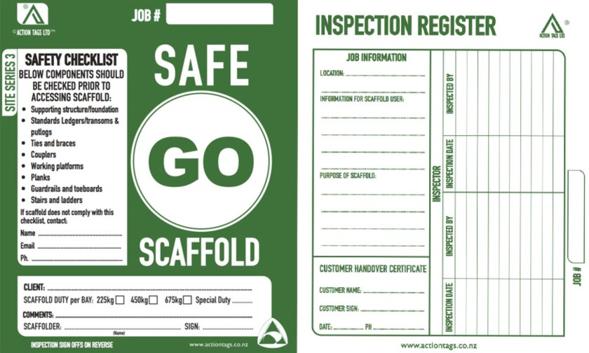 Go Safe Scaffold cards