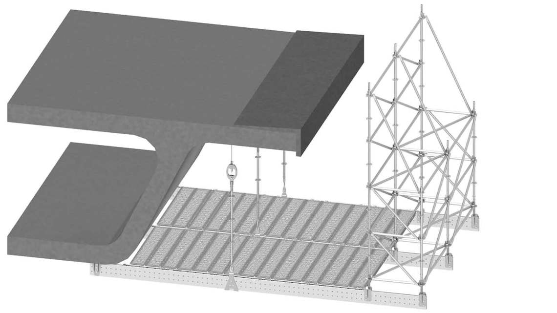 Suspended cantilever