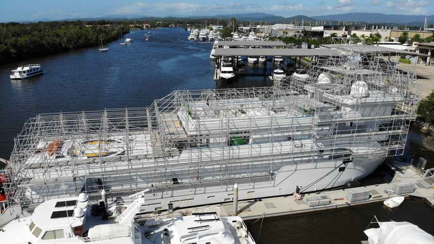 Lightweight Scaffolding by Yacht Support