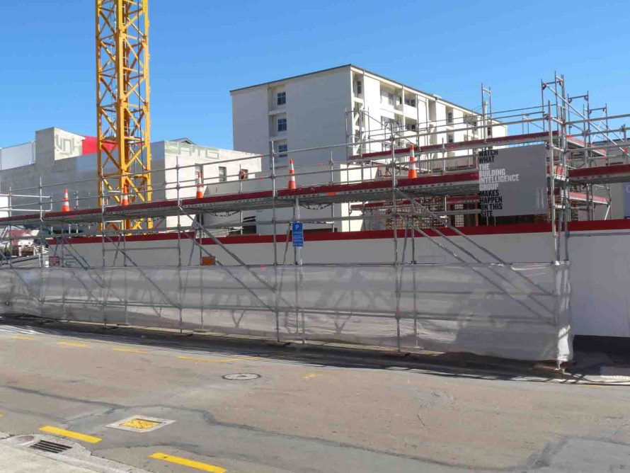 Layher Allround Scaffolding and Layher SpeedyScaf used to provide safe street level public access