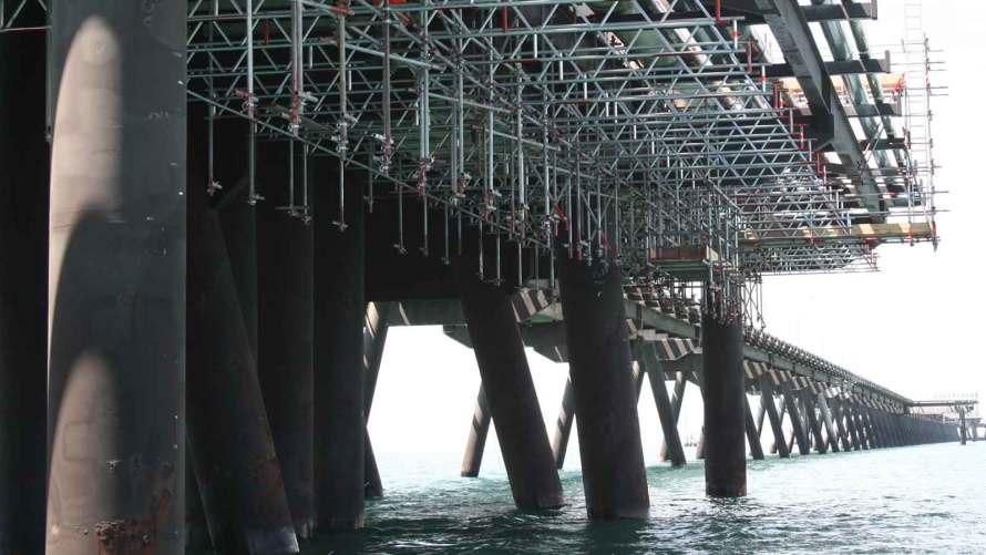 Santos Scaffolds Port Bonython Jetty by Caledonia Scaffolding Services