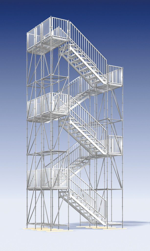 Layher Stairway Tower 500 - for construction site access