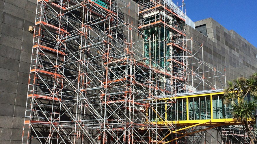 Te Papa Maintenance Scaffold by Geeves Scaffolding