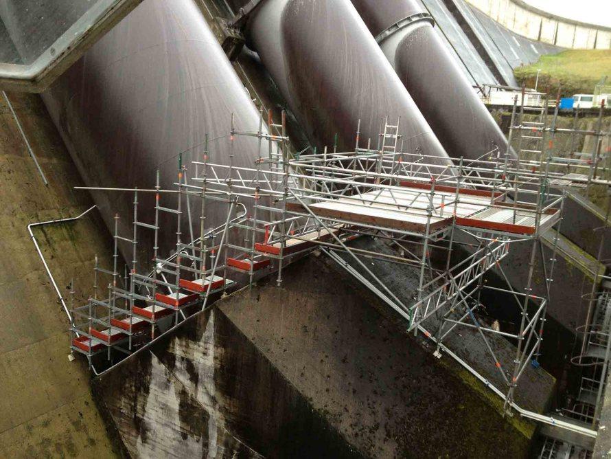 Waikato Scaffolders used Layher Aluminium Beams