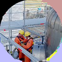 andamio para mantenimiento industrial