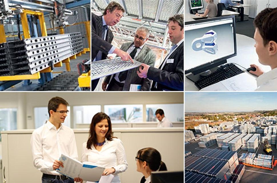 Trabajadores e instalaciones de Layher en Alemania