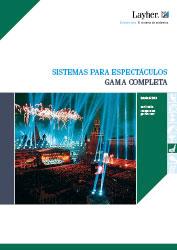Catálogo de la gama completa de sistemas para espectáculos