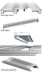 Plataformas cubre huecos para andamios