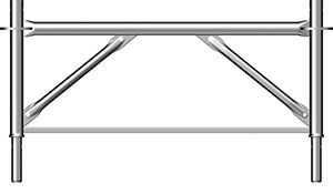 Marco final o marco espaciador de Cimbra Allround TG60 H=0,50 m.