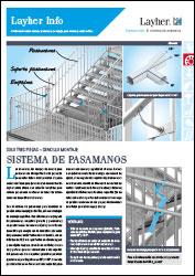 Layher Info 092 - Sistema de pasamanos para escaleras