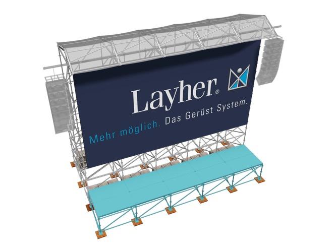 Plataforma videowall Layher