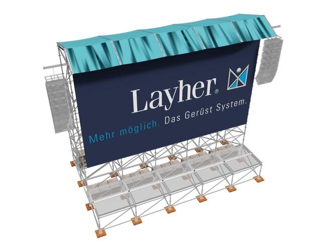 Techo videowall Layher