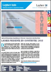 Layher Info número 094 sobre la presencia de Layher en Contrutec 2018