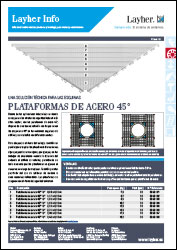 Layher Info plataformas 45º