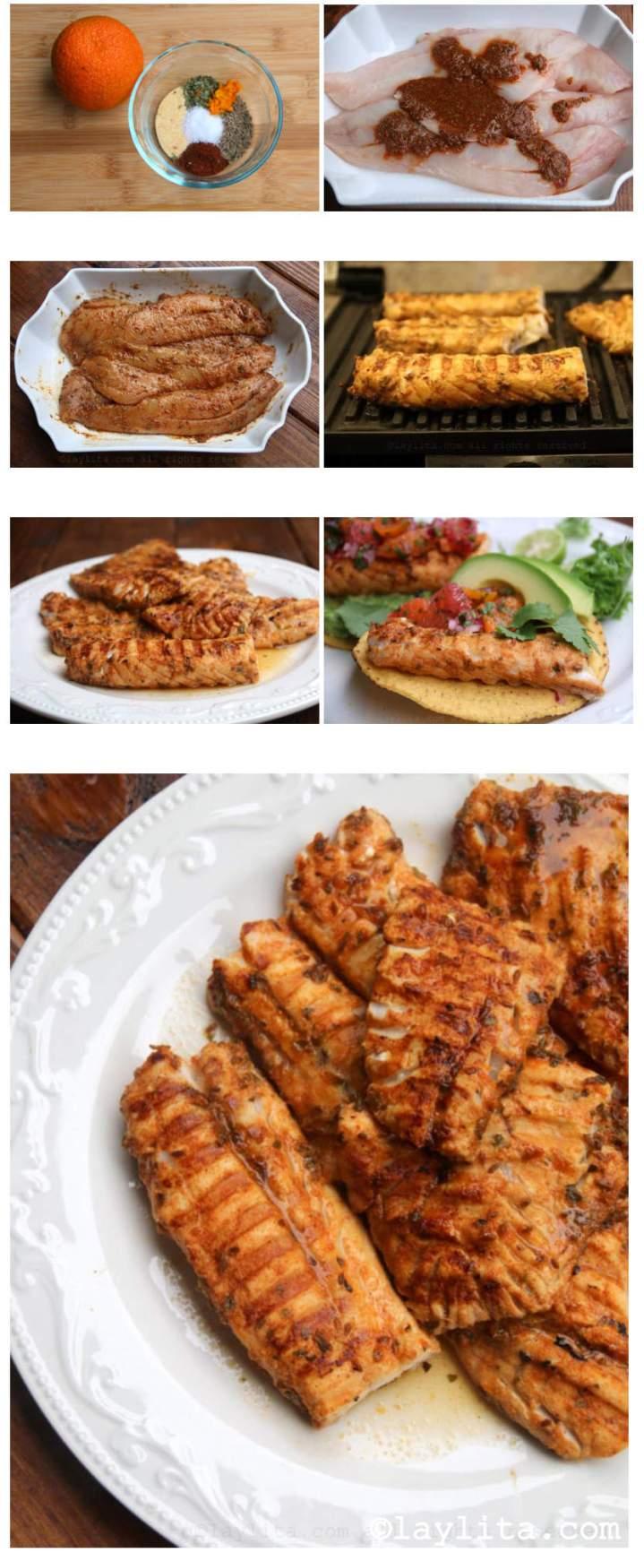 Como fazer peixe grelhado com a marinada cítrica