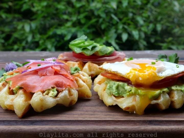 Waffles de pão de queijo