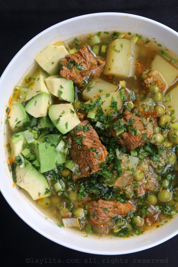 Soupe de quinoa au boeuf