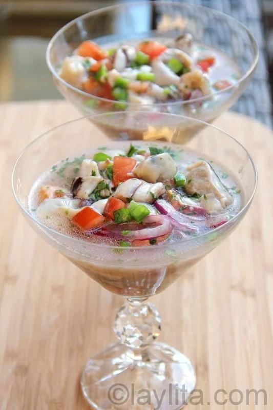 Salade d'huîtres sud Américaine