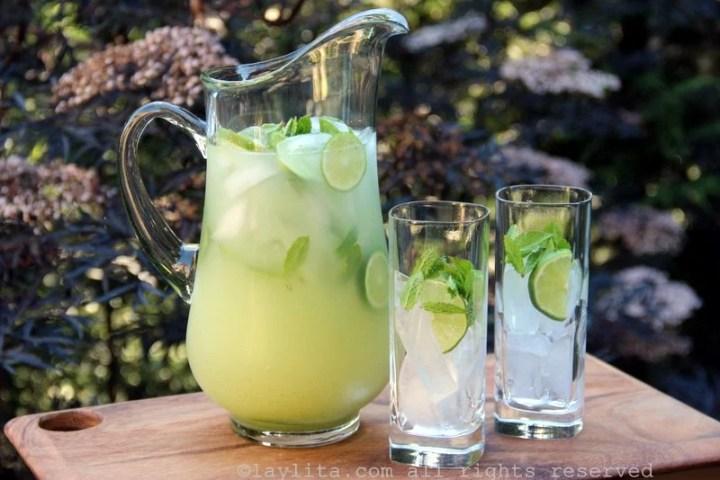 Cocktail limonade à la menthe