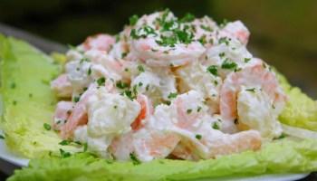 Russian latin american potato salad ensalada rusa laylitas shrimp potato salad ensalada de papas con camarones forumfinder Choice Image