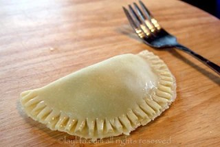 Use a fork to seal the empanadas