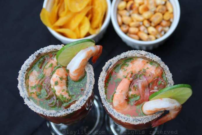Bloody Maria or Bloody Mary Shrimp Ceviche