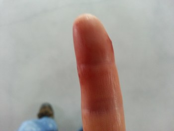 Shot a nail through my finger