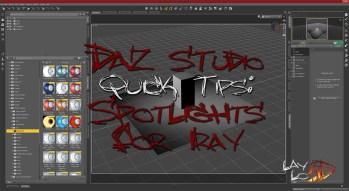 Quick Tips: Spotlights for Iray