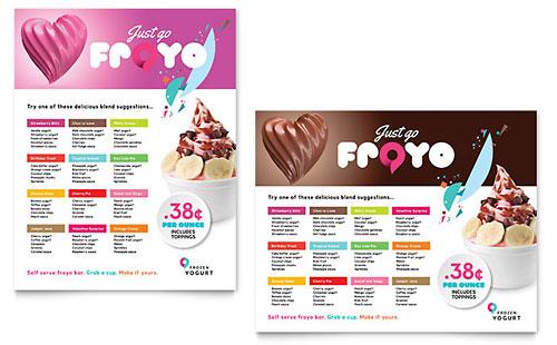 Frozen Yogurt Shop Poster Template - Word & Publisher