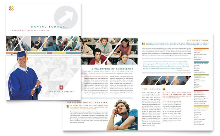 College Amp University Brochure Template Word Amp Publisher
