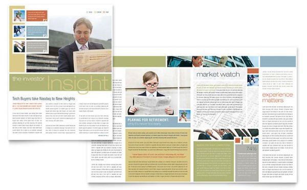 Investment Advisor Newsletter Template Word Publisher
