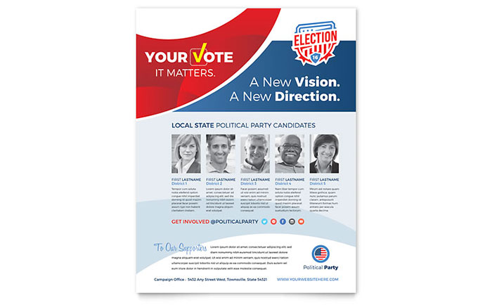 Election Flyer Template Word Amp Publisher