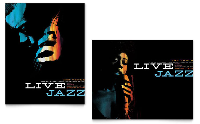 Jazz Music Event Poster Template Word Amp Publisher