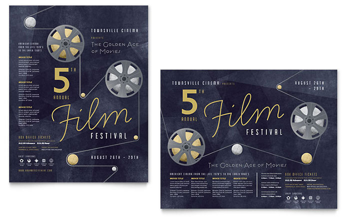 Film Festival Poster Template Word Amp Publisher