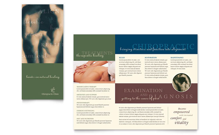 Chiropractor Brochure Template Word Amp Publisher