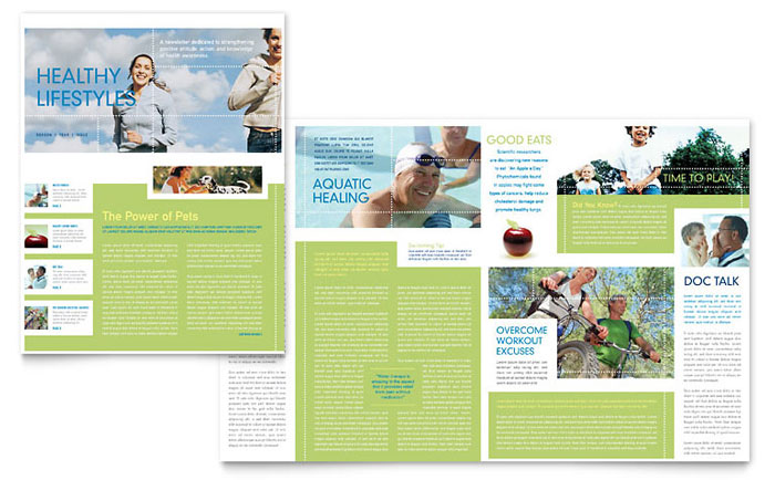 Healthcare Management Newsletter Template Word Amp Publisher