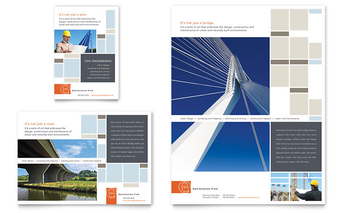 Civil Engineers Flyer Amp Ad Template Word Amp Publisher