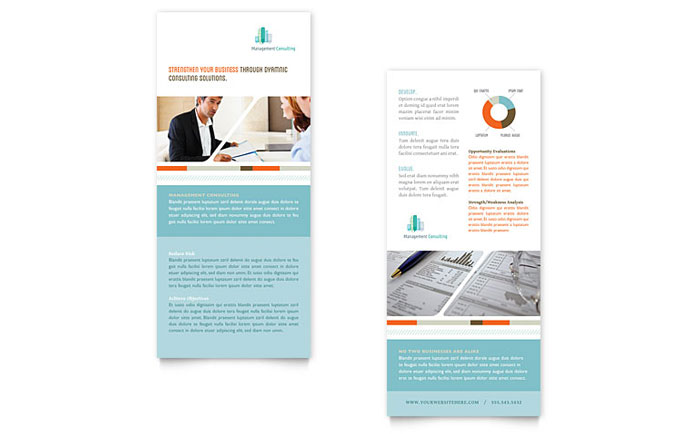 Management Consulting Rack Card Template Word Amp Publisher