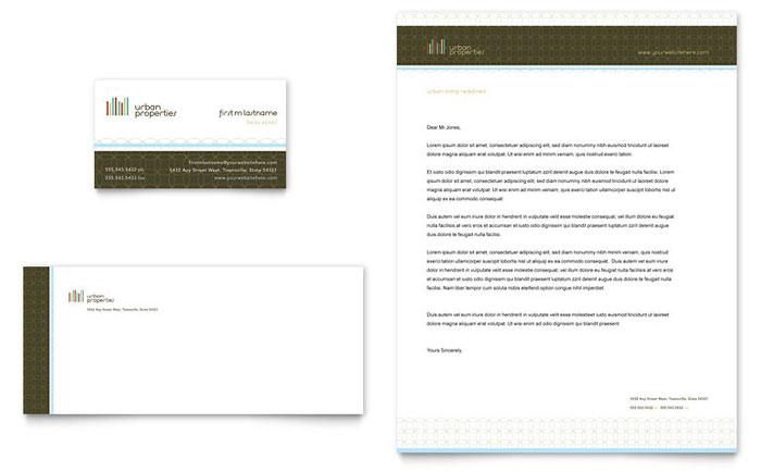 Urban Real Estate Business Card Amp Letterhead Template