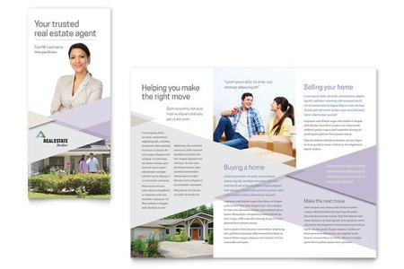 Realtor Brochure Template   Word   Publisher