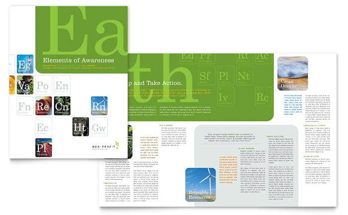 Environmental Agricultural Non Profit Brochure Template Word Publisher