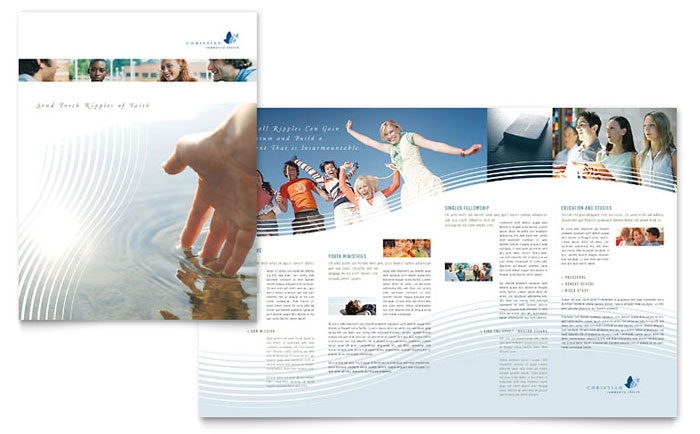 Christian Ministry Brochure Template Word Amp Publisher