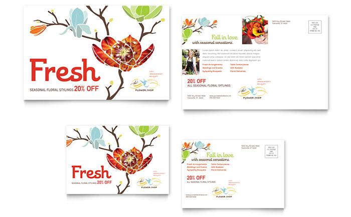 Flower Shop Postcard Template Word Amp Publisher