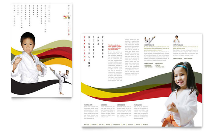 Karate Amp Martial Arts Brochure Template Word Amp Publisher