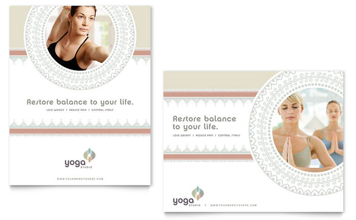 Pilates Amp Yoga Poster Template Word Amp Publisher