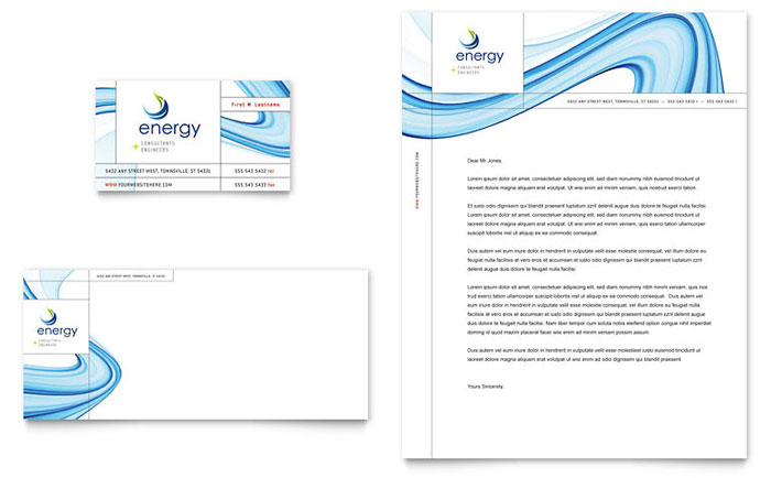 Renewable Energy Consulting Business Card Amp Letterhead