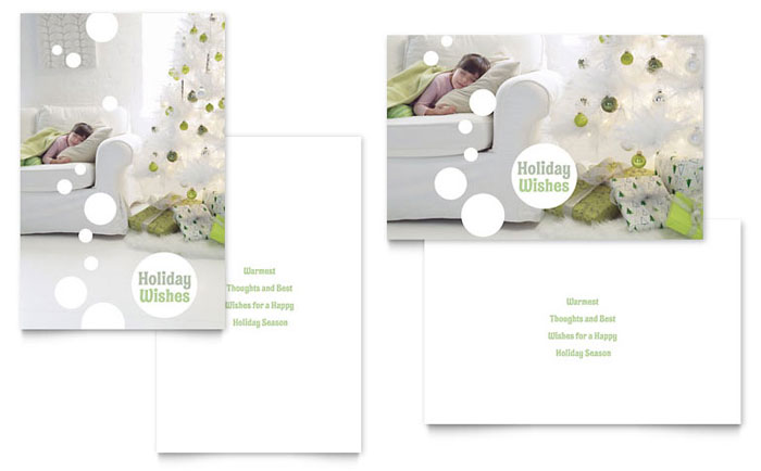 Christmas Dreams Greeting Card Template Word Amp Publisher