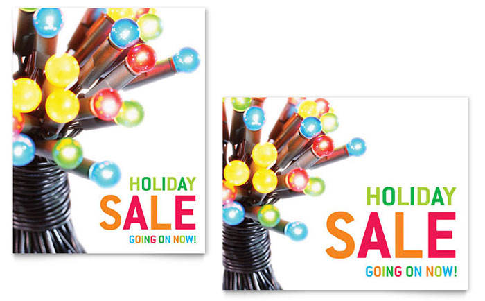 Christmas Lights Sale Poster Template Word Amp Publisher