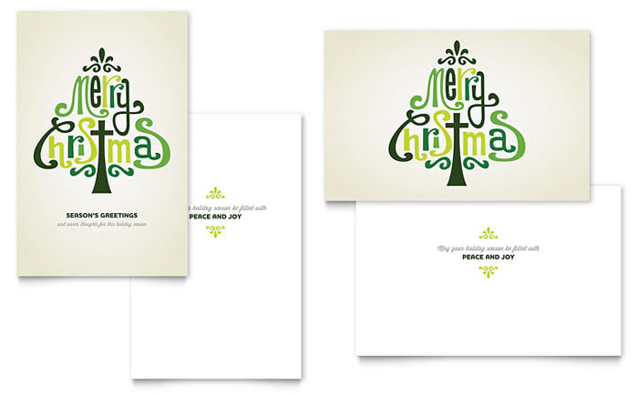 Contemporary Christian Greeting Card Template Word