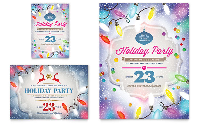 Holiday Party Flyer Amp Ad Template Word Amp Publisher